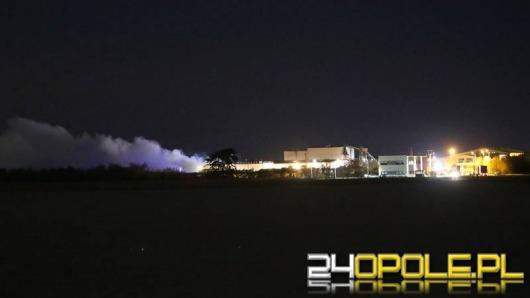 Pożar wysypiska odpadów pod Brzegiem