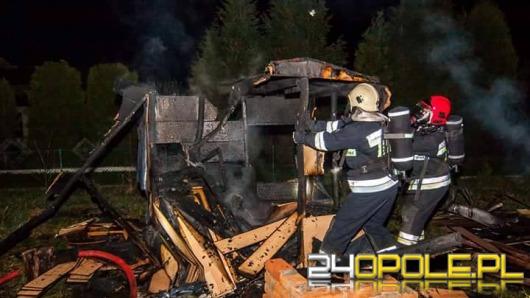 Pożar altany na działce w Opolu