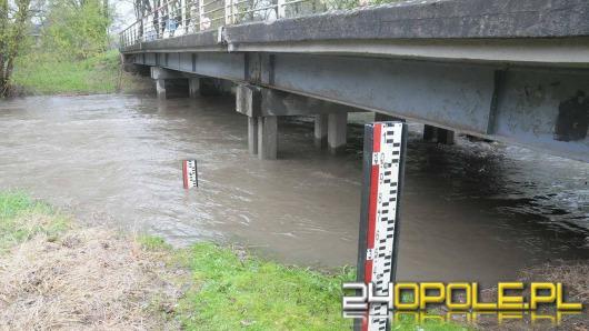 Poziom alarmowy na rzece Opawie w Branicach