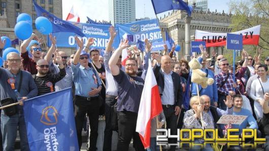 Opolanie protestowali na Marszu Wolności w Warszawie