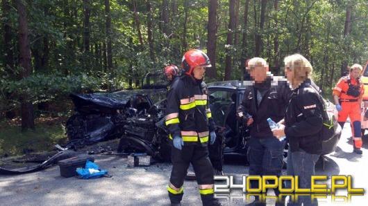 Trzy osoby ranne w zderzeniu audi i volkswagena