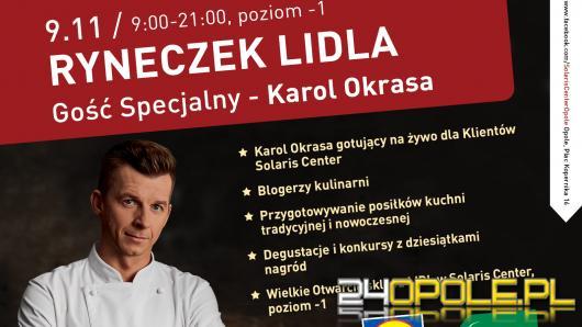 Gotuj na żywo z Karolem Okrasą! Kulinarne show na otwarciu Lidla w Solaris Center