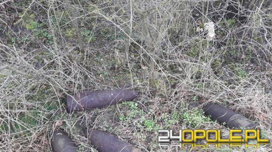 Mieszkanka Gogolina podczas spaceru natknęła się na 4 pociski artyleryjskie