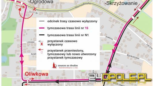 Remont drogi w Żerkowicach, z trasy MZK  linii nr 16 wypadło 7 przystanków