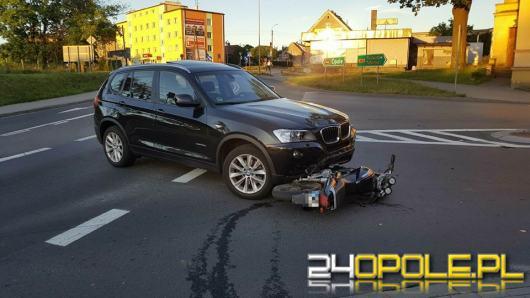 Niemodlin: BMW wymusiło pierwszeństwo, motocyklista w szpitalu