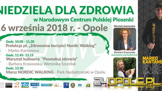 W najbliższą sobotę odbędzie się III Opolski Marsz Nordic Walking