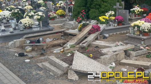 Dewastacja nagrobków na cmentarzu w Michałowie. Czy była celowa?