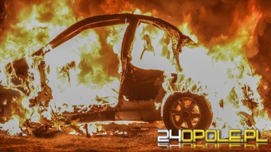W Ciepielowicach spłonął samochód