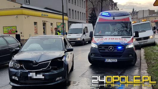 Zderzenie nieoznakowanego radiowozu w centrum Opola