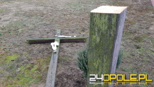 Kto niszczy krzyże i figury sakralne w Grodźcu?