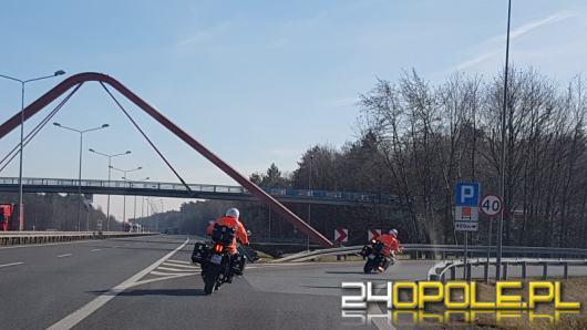 Pierwsze w Polsce patrole motocyklowe na autostradzie A4