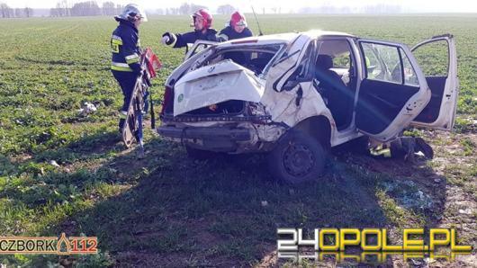 Dachowanie na DK 42, ranna kobieta