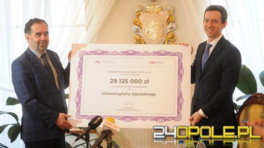 Uniwersytet Opolski otrzymał ponad 29 mln zł. wsparcia. Na co rektor wyda pieniądze?