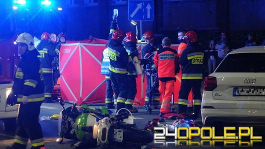 Wypadek na Niemodlińskiej w Opolu. Zginęła pasażerka motocykla