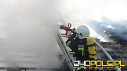 Groźny pożar w Głuchołazach, znaleziono nieprzytomną kobietę obok domu