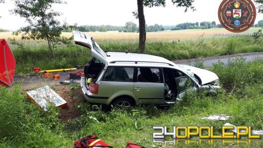 Tragiczny wypadek na trasie Kozłowice - Boroszów. Nie żyje 43-letnia kobieta