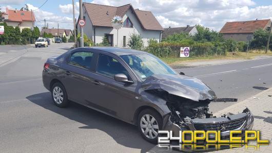 Jedna osoba została ranna w zderzeniu pojazdów na skrzyżowaniu Prószkowskiej z Odrodzenia