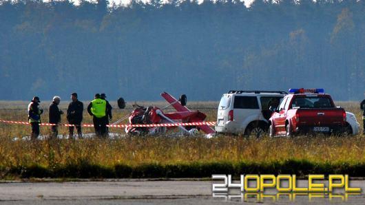 Wypadek w Kamieniu Śląskim. Awionetka runęła na ziemię
