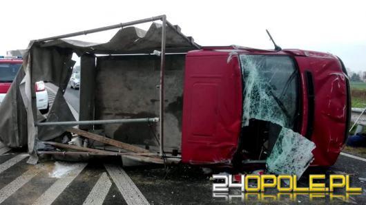 Groźne zdarzenie na DW 414 - droga zablokowana!