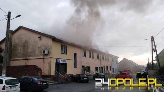 Pożar budynku w Bierawie