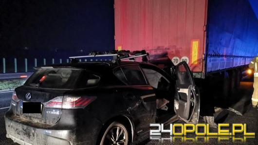 Zderzenie samochodu osobowego z ciężarówką na opolskim odcinku A4