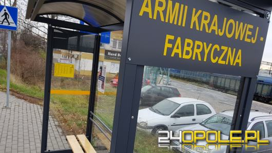 Udogodnienia dla pasażerów MZK. W Opolu stanęło 27 nowych wiat przystankowych