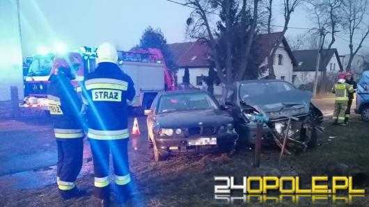 Zderzenie samochodów w Magnuszowicach