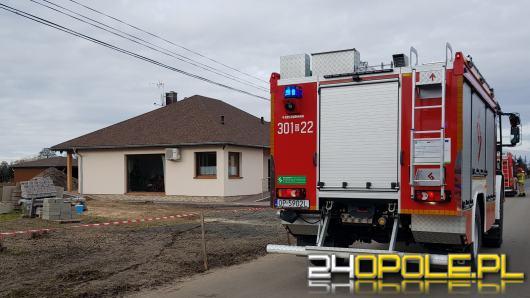 Pożar w domu jednorodzinnym w Kępie