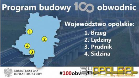 4 obwodnice powstaną w województwie opolskim w ramach rządowego programu 100 obwodnic