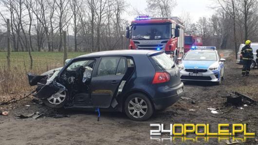 Śmiertelny wypadek w powiecie brzeskim. Auto uderzyło w drzewo