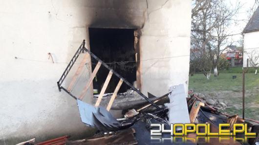 Pożar domu w Dziedzicach