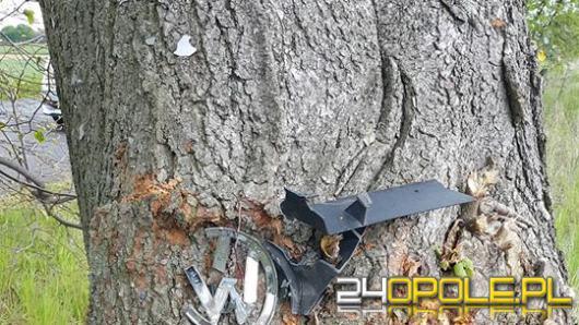 Niebezpieczne zdarzenie na trasie Okopy - Łambinowice. Kierująca wjechała w drzewo