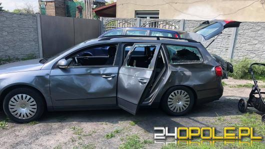 Nietypowa kolizja samochodu osobowego z koniem w Opolu
