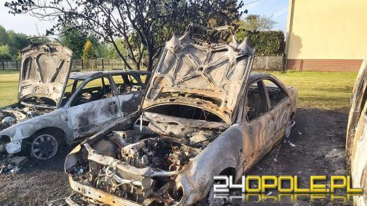 4 samochody i budynek gospodarczy spłonęły dziś w nocy w powiecie nyskim