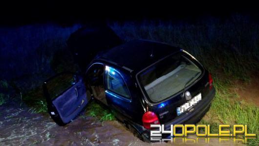 Wypadek obok obwodnicy Czarnowąsów. Kierujący 55-latek pijany