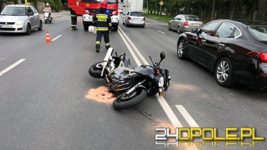 Wypadek motocyklisty na Ozimskiej w Opolu