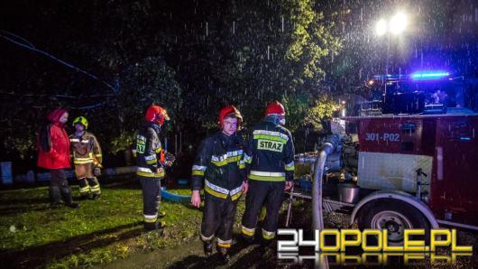 Służby ratunkowe podsumowały piątkowe działania w związku z burzą i deszczem