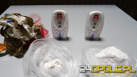 Amfetamina przerzucona przez ogrodzenie na plac Zakładu Karnego w Strzelcach Opolskich