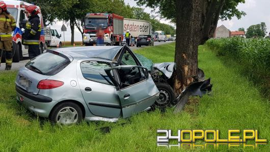 Wypadek na DK 94 przed Strzelcami Opolskimi. Ranna kierująca osobówką