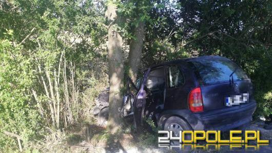 Samochód rozbił się o drzewo w powiecie brzeskim. Na miejscu lądował śmigłowiec LPR