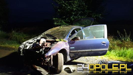 Kobieta straciła panowanie nad pojazdem. Miała dużo szczęścia