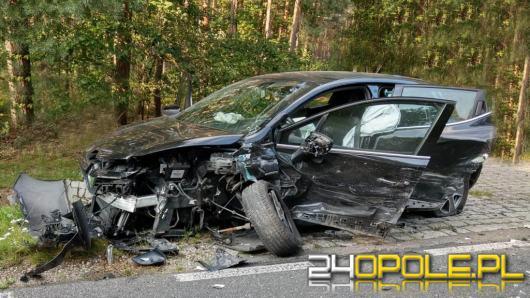 Trzyosobowa rodzina w szpitalu po wypadku na trasie Ozimek-Kolonowskie