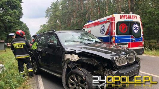 Zderzenie BMW i Skody w Zawadzkiem