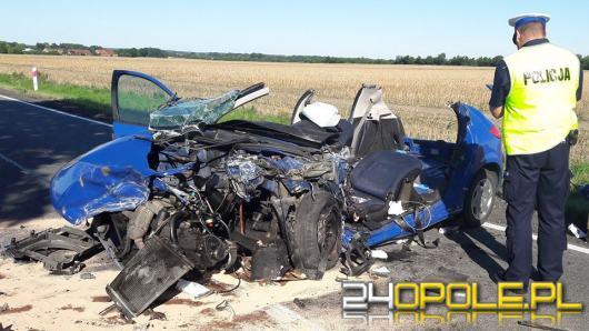 Policja szuka świadków poważnego wypadku na DK 39 w miejscowości Bukowa Śląska