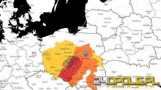 Wydano trzeci stopień zagrożenia przed burzami z gradem dla województwa Opolskiego