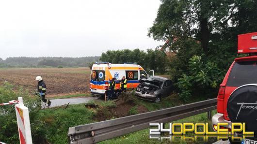 Jedna osoba została ranna po wypadku w Grodźcu