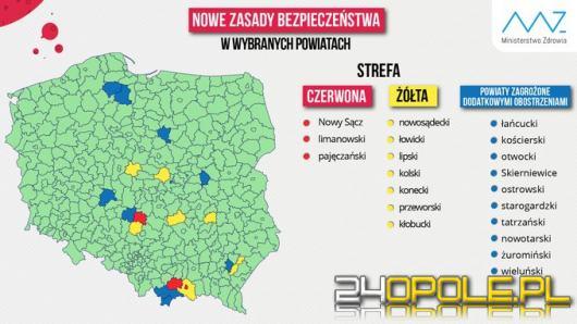 Ministerstwo Zdrowia ogłosiło nową listę żółtych i czerwonych stref. Opolskie bezpieczne!