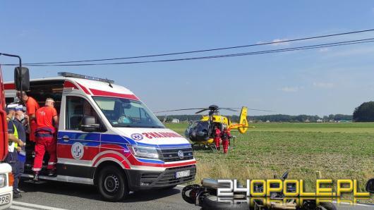 Wypadek z udziałem motocyklisty na trasie Opole - Kluczbork