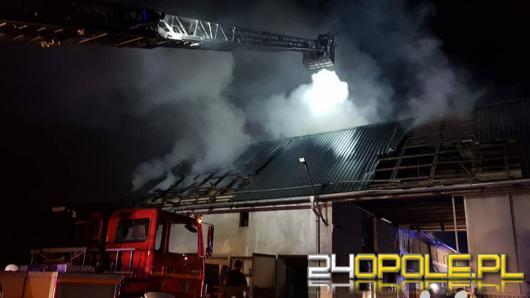 Mieszkańcy i kilkanaście zastępów straży walczyło z pożarem budynku gospodarczego
