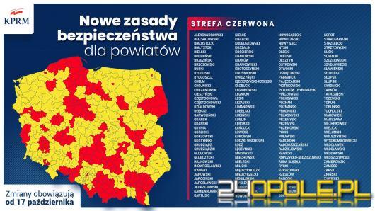 8 powiatów Opolszczyzny w czerwonej strefie!